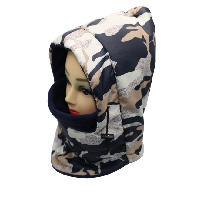 Adjustable Outdoor Winter camouflage Thermal anti-water Neck Face Mask Hood Warmer Balaclava protective outdoor war game military skull half face shield mask black