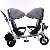 Twin baby stroller child tricycle tandem bicycle buggy