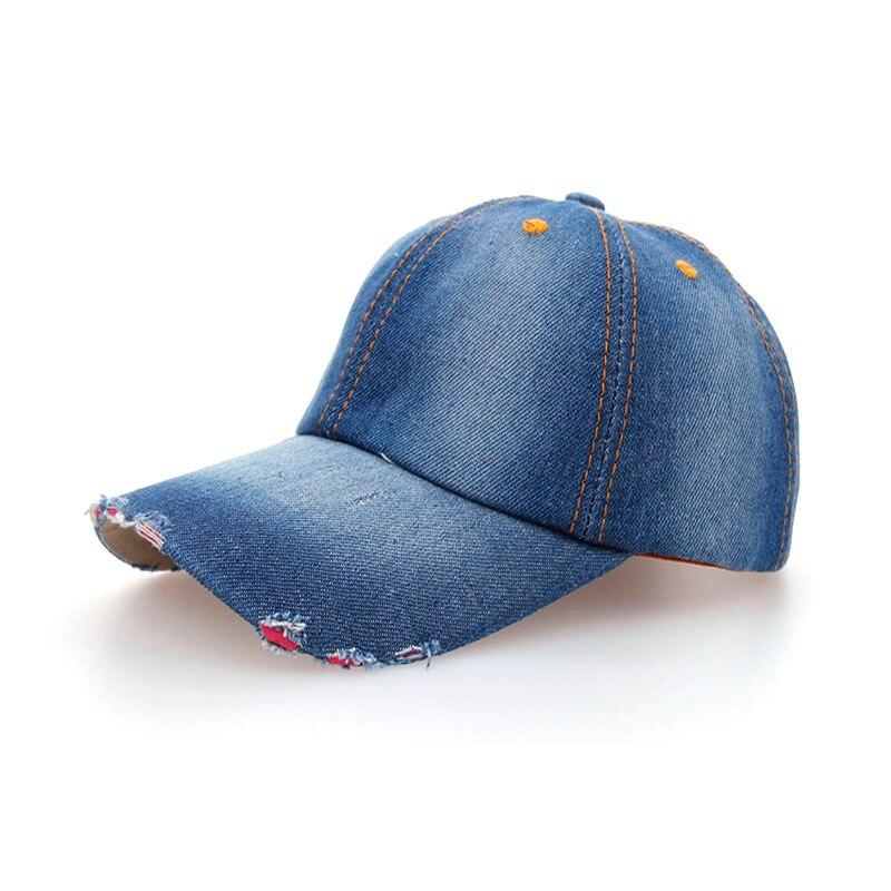 Prix pour Joymay 2017 Printemps Été Nouveau Unisexe Couple Plaine Jean casquette de baseball snapback chapeau B000