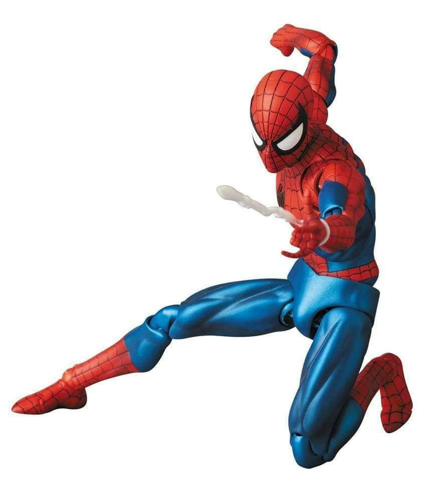 Marvel Mafex 075 Avengers Spiderman MAF075 the Amazing Spider-Man PVC Action Fig