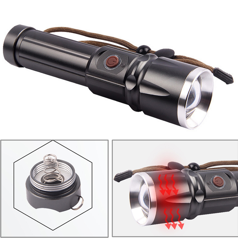 CREE XM-L2 <font><b>LED</b></font> <font><b>X900</b></font> Tactical Flashlight 9000 Lumens Torches Zoomable Flash Light Lamp <font><b>Lanterna</b></font> Torch For 18650/26650 Battery