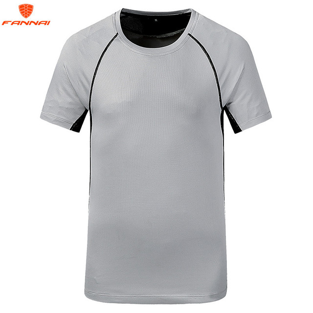 6d0d16053347c Fashion new men s T-shirt Slim round neck design fitness elastic quick-drying  breathable mosaic men s big fat large size t-shirt