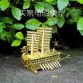 Original NANYUAN Barco Tortuga juguete del rompecabezas 3D modelo de ensamblaje de Metal muebles muebles para el Hogar regalos Creativos DIY de Latón Amarillo