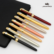 Buy Jinhao165 quality metal luxurious Fountain Pen Stationery Supplies Business ink pen for Writing Tools Gift Can customize LOGO directly from merchant!