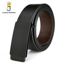 FAJARINA di Marca di Qualità degli uomini di Disegno DELLUNITÀ di elaborazione di 2nd Strato del Cuoio Genuino Nero Cinture di Moda Maschile Cintura Dei Jeans Accessori di Abbigliamento per uomini