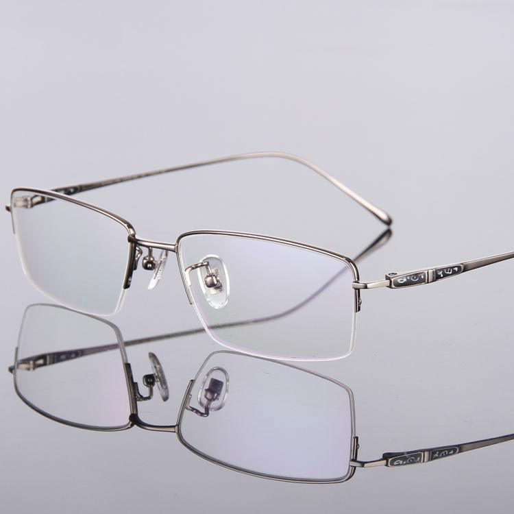 d173e8741844 HIGH Quality Ultralight Pure Titanium Eyeglasses Myopia Prescription Glasses  frames Laboratory Optical Free Shipping T9024 image