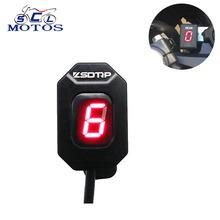 Sclmotos- 1-6 Level Gear Indicator Ecu Plug Mount Speed Display Fit For Aprilia RS 125 ETV 1000 RSV Mille SL1000