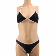 Cross Bandage Low Waist Push Up Brazilian Suit