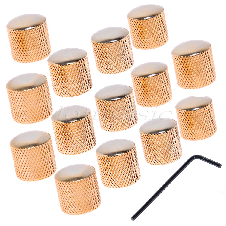 14pcs Gold Guitar Dome Bronze Metal Knob Screw for Tele Guitar Quality Parts allen roth brinkley handsome oil rubbed bronze metal toothbrush holder
