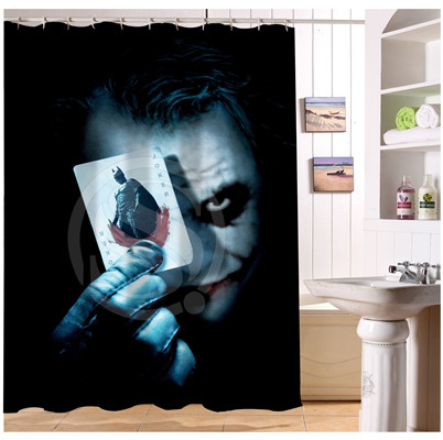 YY612f-194 New Custom Why So Serious Bloody Joker Modern Shower Curtain bathroom Waterproof lJ-w$194