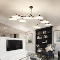 Modern Design Led Chandelier Nordic Lustres Living Room Kitchen Foyer Gold Lamp Black Iron Decor Home Lighting Fixtures 220V
