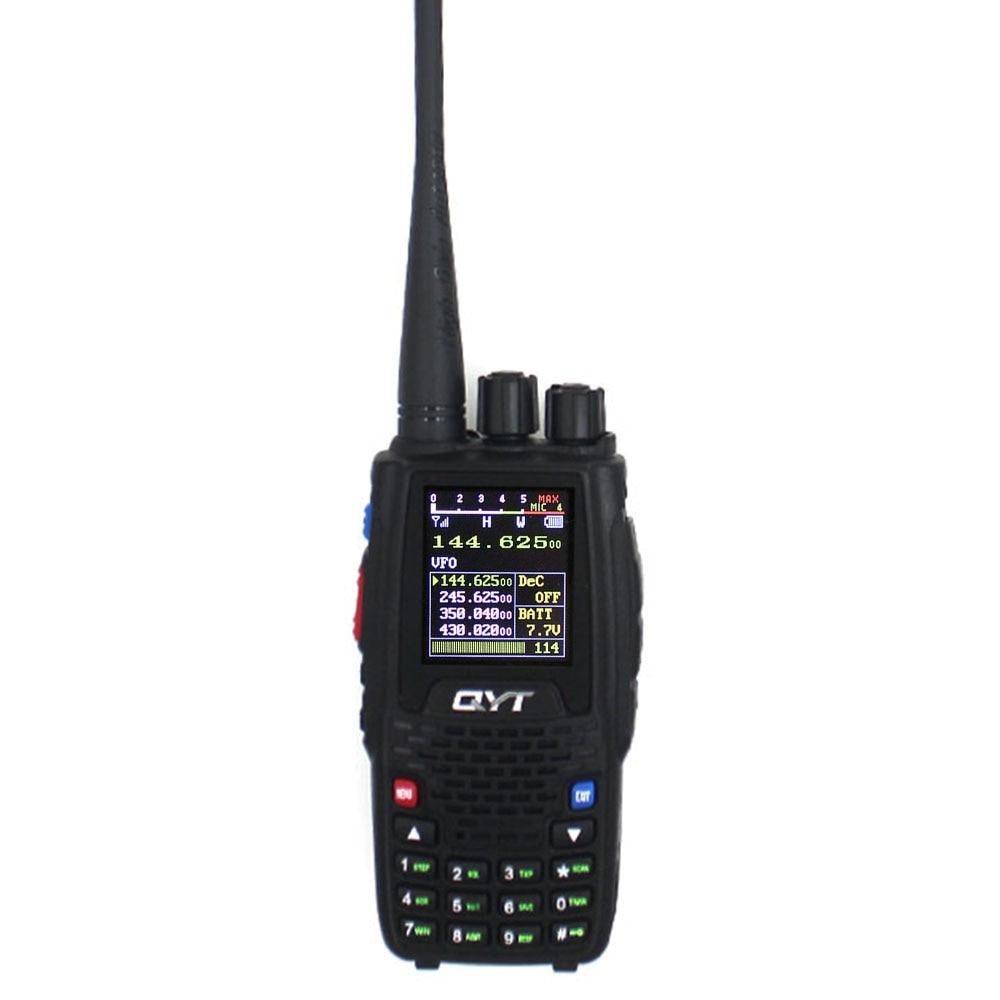 QYT KT-8R Walkie Talkie Quad Band Handheld Amateur Radio Station Intercom KT8R Color Display 5W 2000mAh FM Transceiver