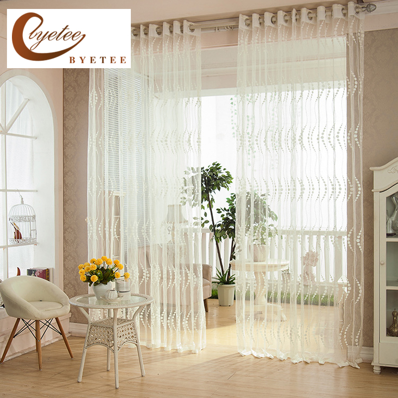 Aliexpresscom  Buy byetee Bedroom living Room Brief curtain white strip Window Tulle and