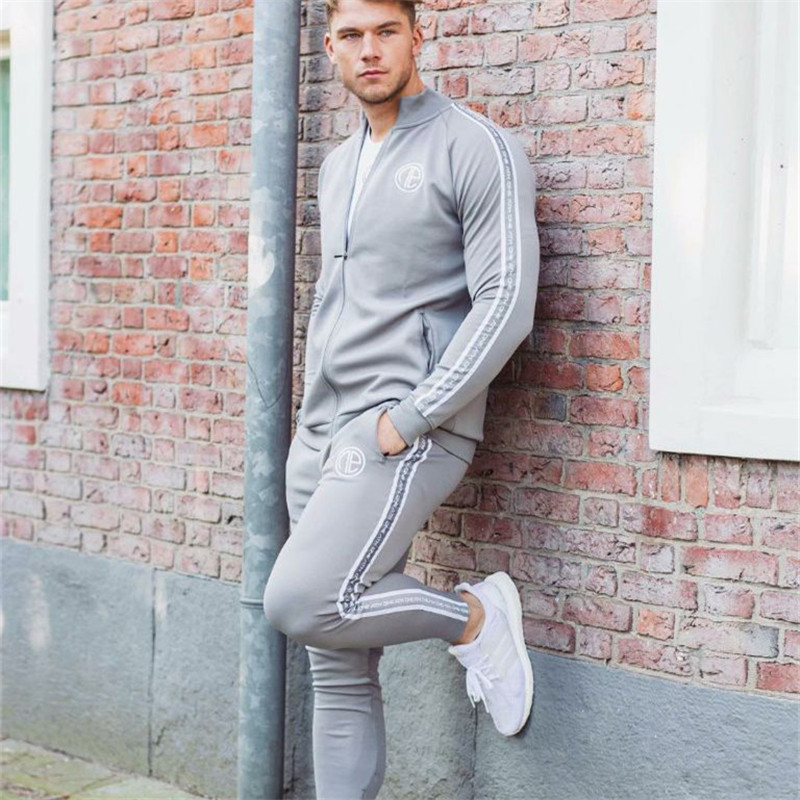 2019 Sport Suit Men Bodybuilding Jacket Pants Sports Suits Basketball Tights Clothes Gym Fitness Running Set Men Tracksuits 3XL-in Men's Sets from Men's Clothing    3