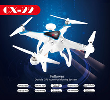 CX22 Professional RC Drone with GPS Auto Return Follow Me FPV Drone Dual One-key RTF with 5MP HD camera