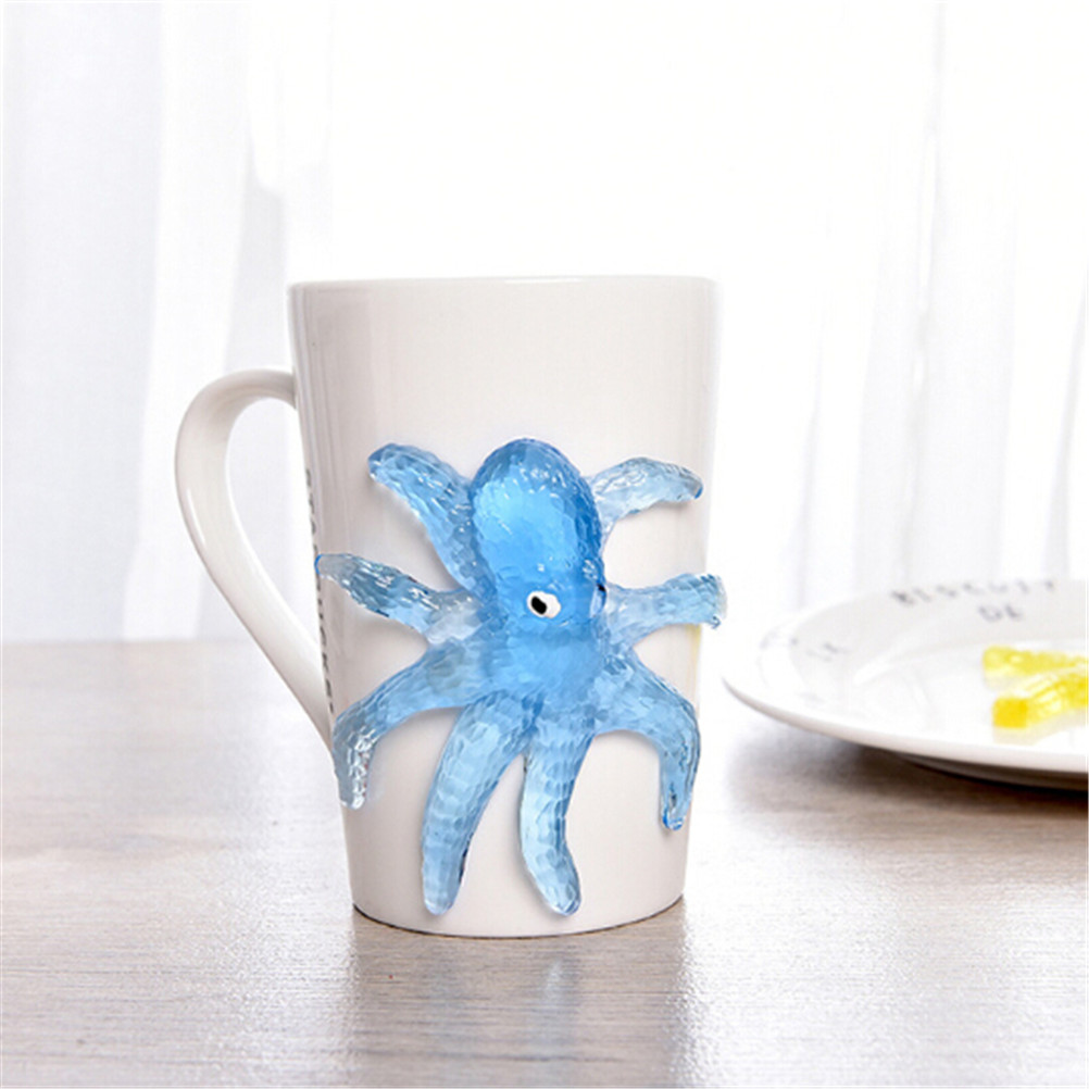 Sticky Marine Animal Toys TPR Soft Material Decompression Starfish Octopus Shark Toy For Children's Day Gifts Gags Practical Toy