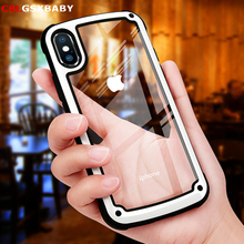 Shockproof Armor Case For iPhone 11 XS XR 6 6S 8 7 Plus Transparent Cover Pro Max Luxury Silicone