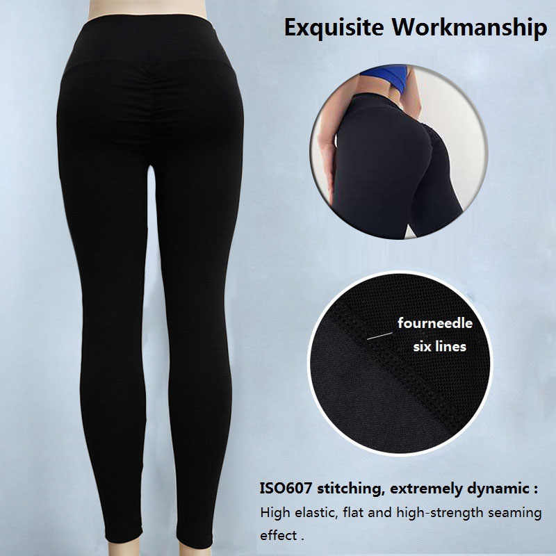 a82912003871 ... NINGMI Sexy Butt Lifter Slimming Pants Fitness Tights Women Ruched Hip  Push Up Leggings High Waist ...