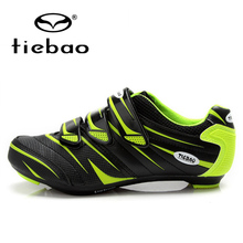 цена на TIEBAO Professional Men Women Road Bike Self-Locking Shoes Bicycle Cycling Shoes Breathable Nylon-fibreglass Sole Athletic Shoes