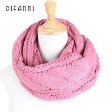 Женский вязаный шарф dianni Модный мягкий теплый повседневный