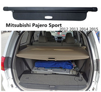 For Mitsubishi Pajero Sport 2012 2013 2014 2015 Rear Trunk Cargo Cover Security Shield Screen shade High Qualit Car Accessories