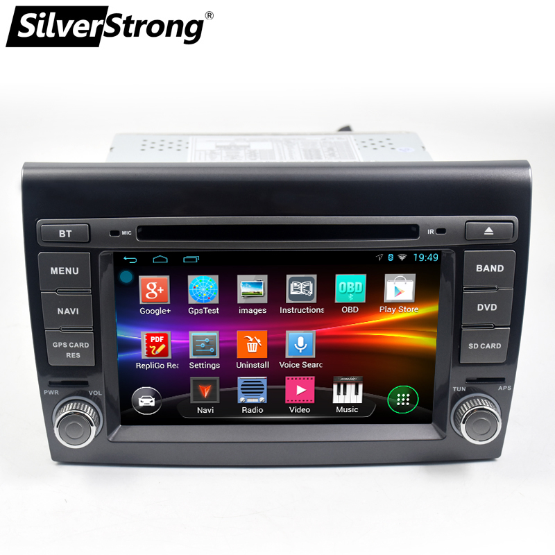 SilverStrong 2 Din android9 0 Car DVD Player 7 Autoradio GPS Navigation For Fiat Bravo 2007