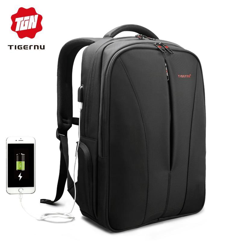 Tigernu New splashproof usb charge 15 6inch laptop backpack men backpacks for teenage girls summer backpack