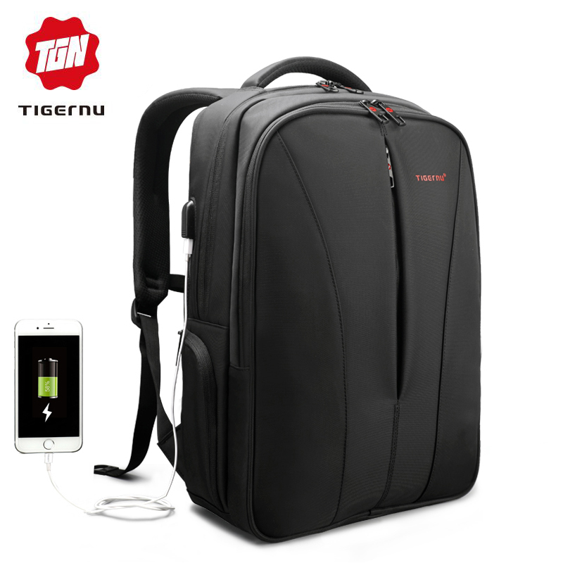 Tigernu New splashproof usb charge 15.6inch laptop backpack men backpacks for teenage girls summer backpack bag for women-in Backpacks from Luggage & Bags    1