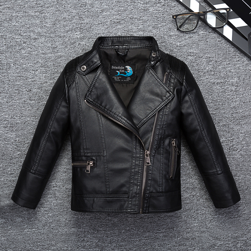 Children Pu Leather Jacket 2018 New Fashion Spring Jacket For Boys Girls Autumn Coat Kids Solid Casual Outerwear 3-11Y Clothing стоимость