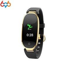 696 S3 модные часы Smart Watch браслет девушка Для женщин Монитор Сердечного Ритма Смарт-браслет на запястье женские туфли, плоская подошва, Фитнес трекер Браслет