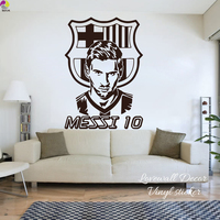 Lionel Messi Barcelona Football Player Wall Sticker Kids Room FC Football Club Team Argentina Soccer Sport
