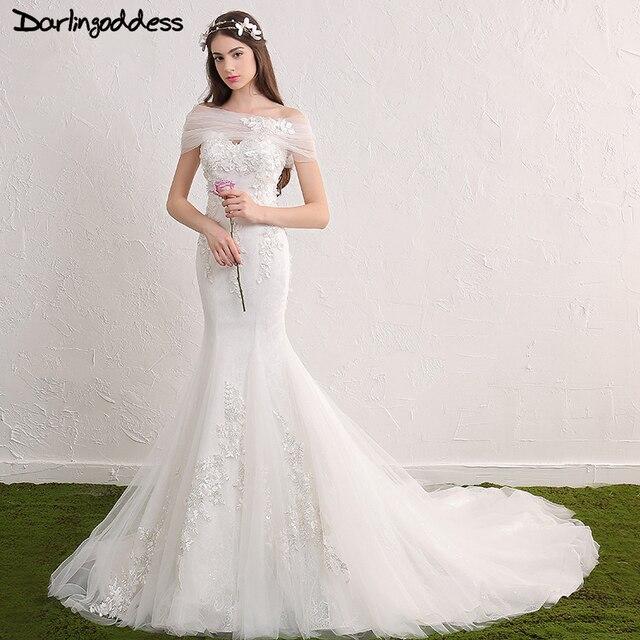 Echt Fotos Lace Meerjungfrau Brautkleider Plus Size Schatz wulstige ...