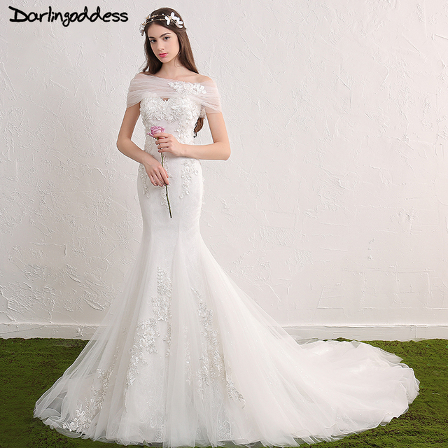 Real Photos Lace Mermaid Wedding Dresses Plus Size Sweetheart Beaded