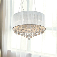FREE SHIPPING EMS Modern brief personality wiredrawing led glass crystal lighting pendant light crystal lamps SJ996