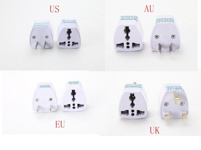 1 PC Phổ MỸ ANH AU Để EU Cắm USA Để Euro Châu Âu Du Lịch Tường AC Power Charger Outlet Adapter chuyển đổi 2 Vòng Pin Ổ Cắm