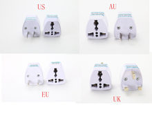 1PC Universal US UK AU To EU Plug USA To Euro Europe Travel Wall AC Power Charger Outlet Adapter Converter 2 Round Pin Socket(China)