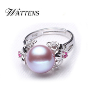 CYTHERIA Pearl Ring For Women High Quality Natural White Pink Purple Freshwater Pearl Jewelry Adjustable Ring