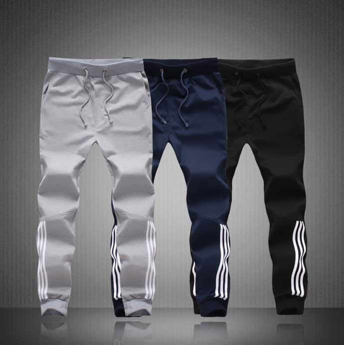 New Men Summer Pants SportsRunning Sweatpants SoccerPrinting Casual Trouser Jogger Bodybuilding Fitness Sweat Pants