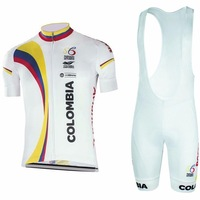 Colombia Team Summer Quick Dry Cycling Wear 2 Colors Short Sleeve Cycling Jersey Ropa Ciclismo Bib