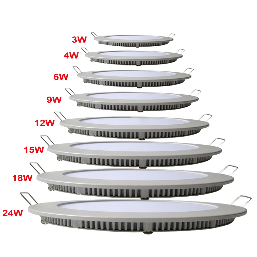 3W 4W 6W 9W 12W 15W 18W 20W 24W LED Thin Round Panel Light Ceiling Light Down Light Private mold 220mm 240mm Cutting Hole