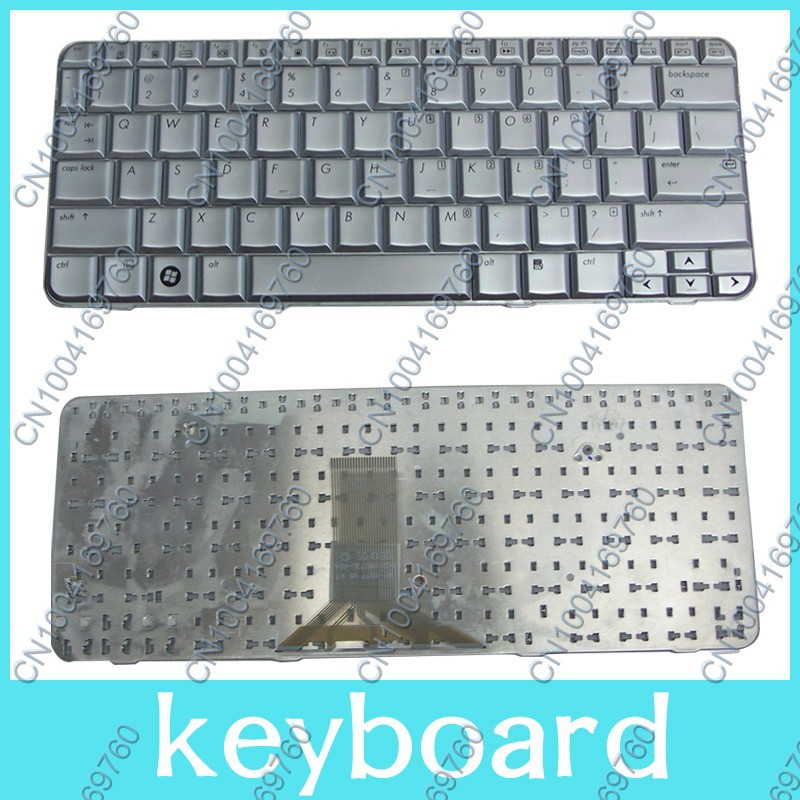 Free shipping New keyboard for HP Pavilion TX1000 TX1100 <font><b>TX1200</b></font> TX1300 TX1400 TX2000 TX1 TX2 English Silver US Laptop keyboard image