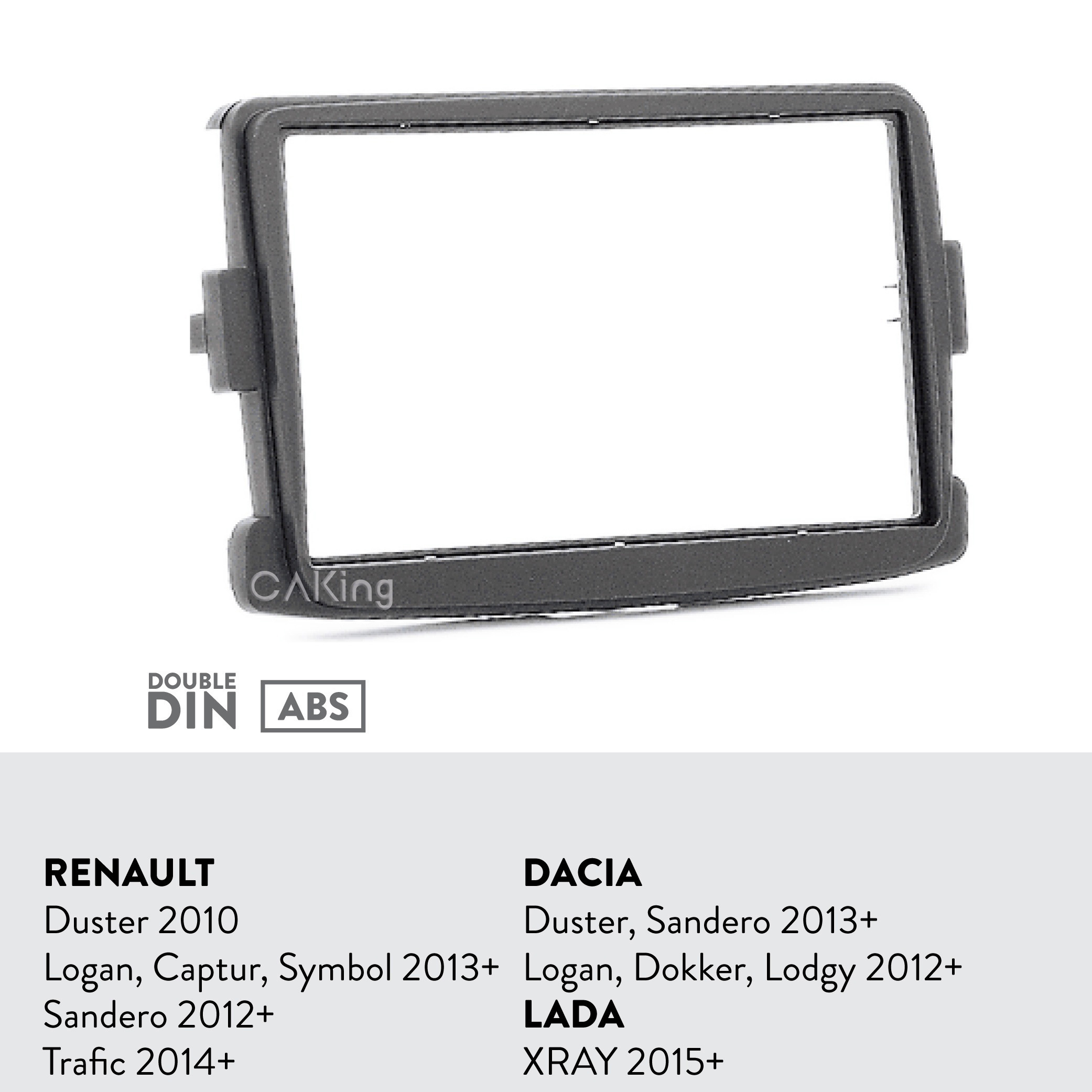 Image 2 - Car Fascia Radio Panel for RENAULT Duster 2010+; Logan, Captur, Symbol 2013+; Sandero 2012+; Trafic 2014+ Dash Kit Adapter Bezel-in Fascias from Automobiles & Motorcycles