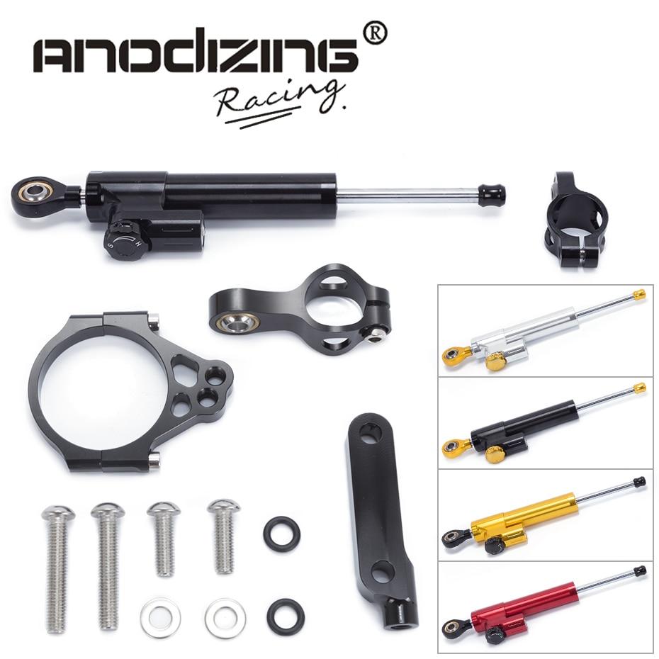 FREE SHIPPING For Kawasaki VERESYS 1000 2012-2016 Motorcycle Aluminium Steering Stabilizer Damper Mounting Bracket Kit
