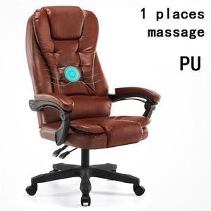 Image 4 - Koltuk Fotel Biurowy patron masaj Sedia bürosu Meuble Escritorio oyun deri Cadeira Silla oyun Poltrona bilgisayar sandalyesi
