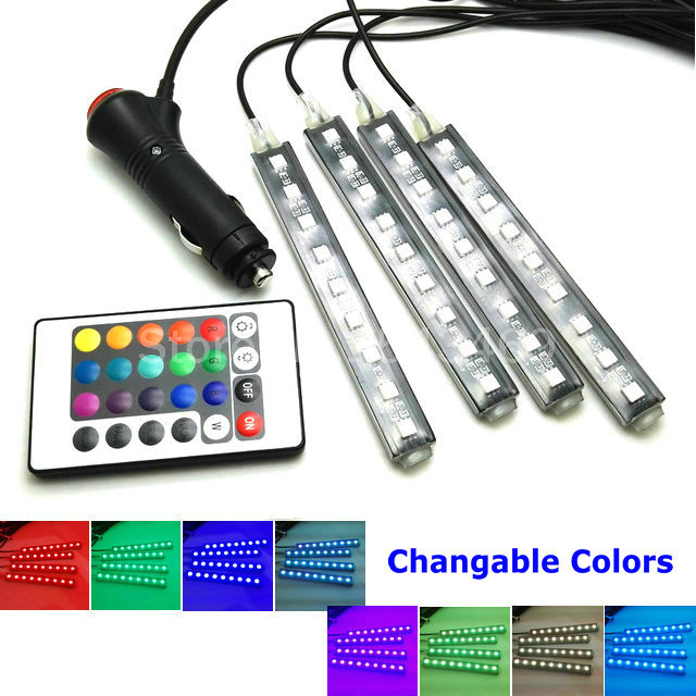 AUTO Sfeer Lamp Draadloze LAMP Controle 8 Kleuren Decoratieve LED ...