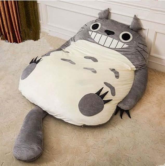 Anime Bean Bag Chair Used Stressless Japan Totoro Sleeping Soft Plush Large Cartoon Bed Tatami Beanbag Mattress 4 Sizes Free Shipping