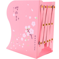 South Korea stationery girl heart pink telescopic bookend shelf bookshelf storage folder folding book block