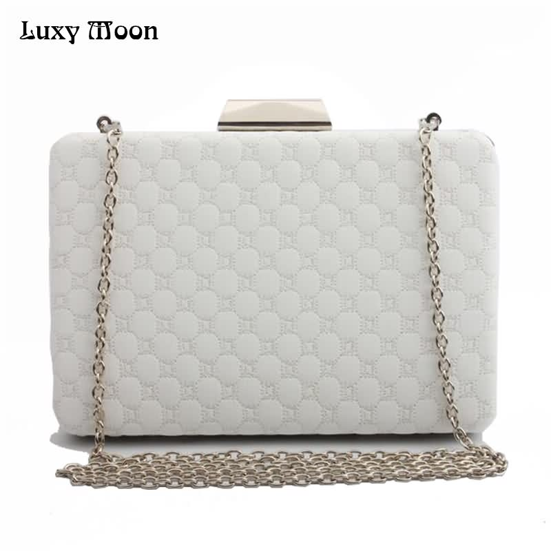 Luxy Moon Evening Bag Women Clutch Purse Hard Case PU Leather Handbag Retro Flower Embroidery Day Clutch Shoulder Bags ZD721