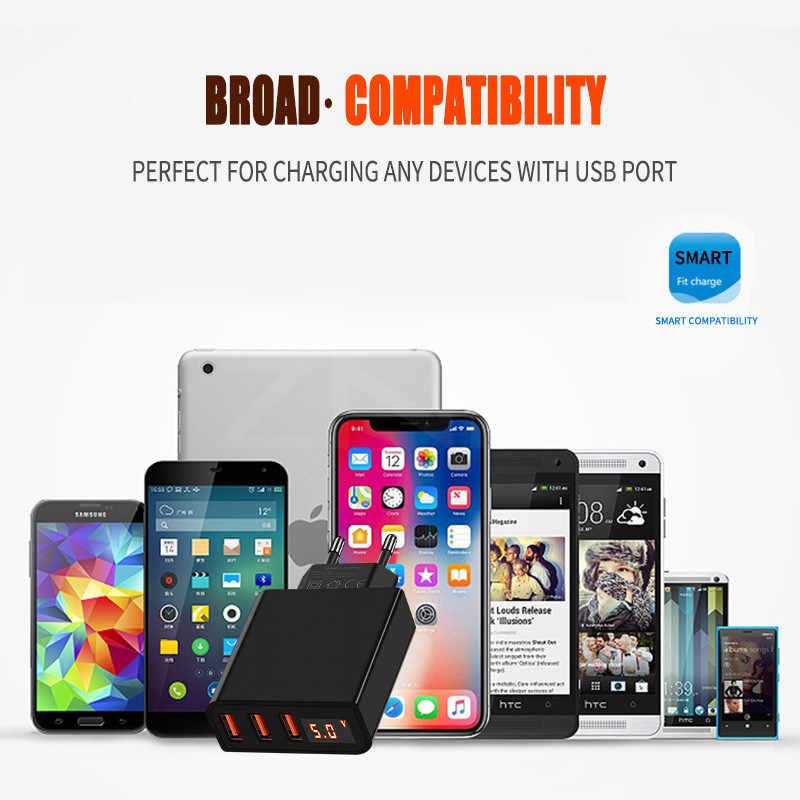 Znp Universal 15 W USB Charger 5 V untuk iPhone X Max X Uni Eropa Plug LED Display Ponsel Cepat pengisian untuk Samsug S10 Xiaomi Huawei