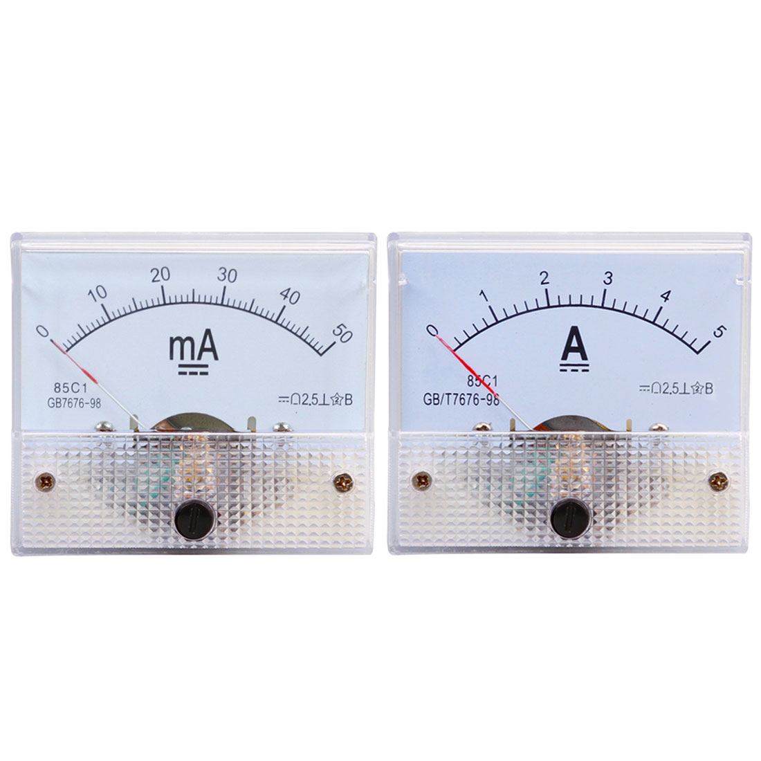 DC Pointer Current Meter 5A/10A/15A/20A/30A/50A/75A/100A Analog Ammeter Panel Current Meter Gauge pair of stylish flower big faux pearl reversible earrings for women